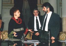 Eva con Lic.Daniel Filmus (Ministro de Educación)